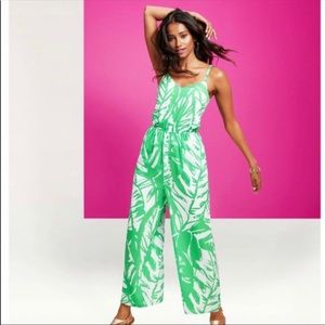 Lily Pulitzer Bright Green Wide Leg Jumpsuit